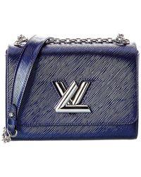 Louis Vuitton Blue Epi Leather Twist Mm