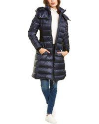 Burberry Detachable Hood Puffer Coat - Blue