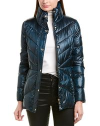 Sam Edelman Quilted Puffer Down Coat - Blue
