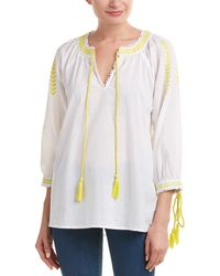 Romeo and Juliet Couture Embroidered Top - White
