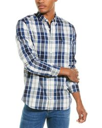 Joules Hewitt Classic Fit Woven Shirt - White