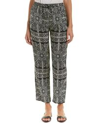 Tolani Printed Silk Pant - Black