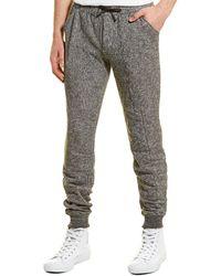 Vestige Panelled Sweatpant - Gray