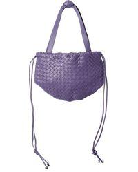 Bottega Veneta The Small Bulb Intrecciato Leather Pouch - Purple
