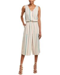 Splendid - Pocket Linen-blend Jumpsuit - Lyst