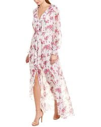 Rachel Zoe Thea Silk-blend Gown - White