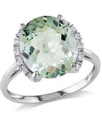 Rina Limor 10k 4.06 Ct. Tw. Diamond & Green Amethyst Ring