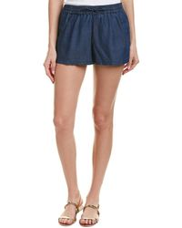 French Connection - Little Venice Chambray Shorts - Lyst