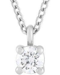 Heritage Tiffany & Co. Tiffany & Co. Platinum 0.12 Ct. Tw. Diamond Pendant Necklace - Metallic