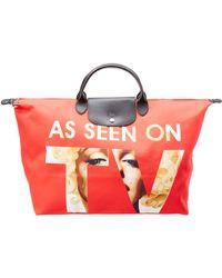 Longchamp X Jeremy Scott As Seen On Tv Nylon Travel Bag - Red