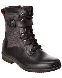 UGG Women's Kesey Waterproof Leather Boot - Black