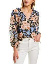 Rebecca Taylor Blush Rose Silk-blend Top - Multicolor