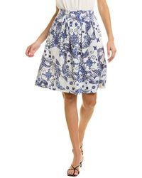 Maliparmi Block Print Skirt - Blue