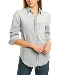 Mother The Frenchie Fray Top - Gray
