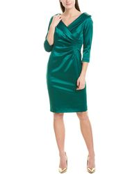 Tahari Tahari Asl Sheath Dress - Green