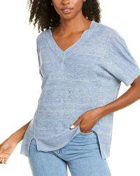INHABIT Drapey Linen Sweater - Blue