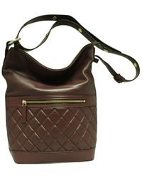 Tiffany & Fred Quilted Leather Tote - Brown