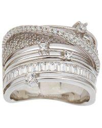 Alanna Bess Limited Edition Silver Cz Statement Ring - Metallic