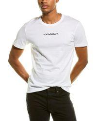 Dolce & Gabbana Slim-fit Logo-embroidered Cotton-jersey T-shirt - White