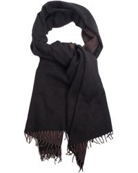 Hermès - Dark Brown & Gray Cashmere & Wool-blend Fringe Trim Scarf - Lyst