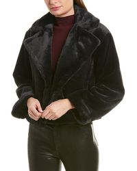 Vince Plush Coat - Black