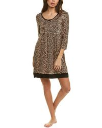 Rene Rofe Key To My Heart Sleepshirt - Brown