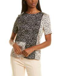 Donna Karan Printed Block T-shirt - Black