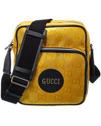 Gucci Off The Grid Logo Shoulder Bag - Yellow