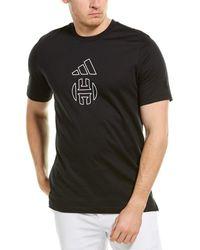 adidas Harden Individuality Logo T-shirt - Black