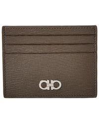 Ferragamo Leather Card Holder - Multicolour