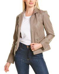 Cole Haan Leather Jacket - Multicolour