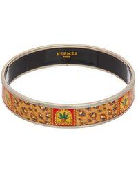 Hermès - Hermès Printed Enamel Narrow Bangle - Lyst