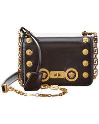 d534f32730f7 Versace Medusa Calf Leather Crossbody Bag Black in Black - Lyst