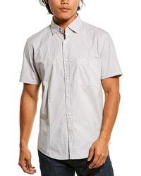 Reiss Goff Garment Dyed Shirt - Grey