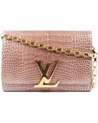 Louis Vuitton Blush Alligator Louise Gm - Pink