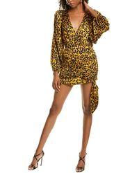 Ronny Kobo Giorgia Silk-blend Mini Dress - Orange