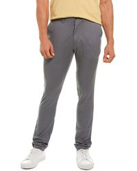 Grayers Slim Fit Linen-blend Pant - Grey