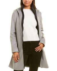 Kenneth Cole Wool-blend Coat - Gray