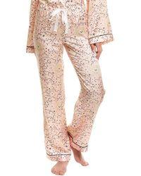 Morgan Lane Chantal Silk-blend Pant - Pink