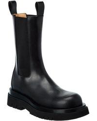 Bottega Veneta Lug Leather Boot - Black