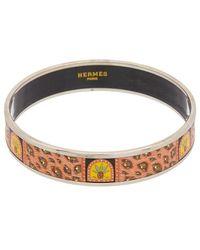 Hermès - Printed Enamel Narrow Bangle - Lyst