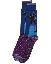 Robert Graham Gibbons Socks - Blue