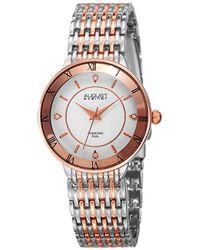 August Steiner Women's Metal Diamond Watch - Multicolour