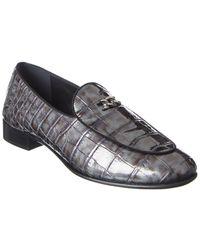 Giuseppe Zanotti Patent Loafer - Metallic