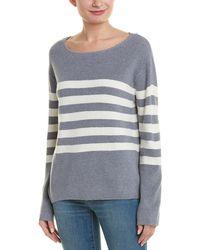 Monrow Stripe Sweater - Gray