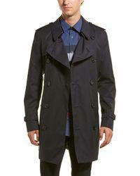 Burberry Short Wimbledon Trench Coat - Blue