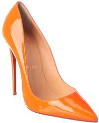 Christian Louboutin So Kate 120 Patent Pump - Orange