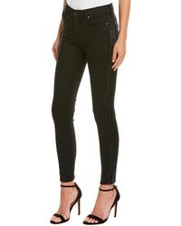 7 For All Mankind - 7 For All Mankind Black Super Skinny Leg - Lyst