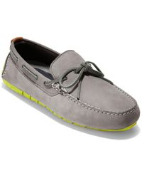 Cole Haan Zerogrand Leather Driver - Grey