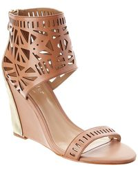 Nicole Miller Artelier Turks Leather Wedge Sandal - Multicolour
